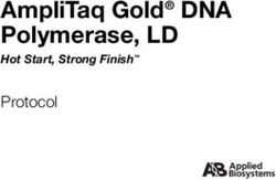 AmpliTaq Gold DNA Polymerase, LD Protocol