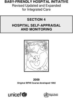 BABY-FRIENDLY HOSPITAL INITIATIVE SECTION 4 HOSPITAL SELF-APPRAISAL AND MONITORING