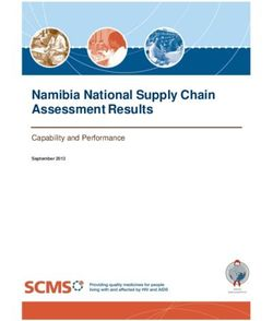 Namibia National Supply Chain Assessment Results