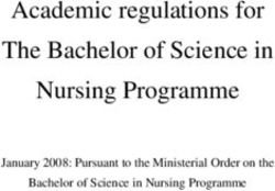 Academic regulations for The Bachelor of Science in Nursing Programme