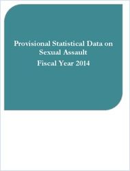 Provisional Statistical Data on Sexual Assault Fiscal Year 2014