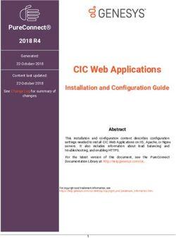 CIC Web Applications