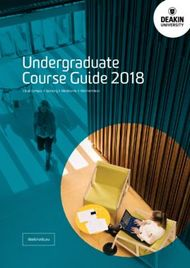 Undergraduate Course Guide 2018