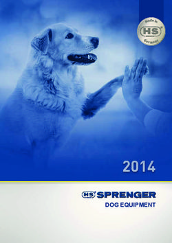 Spernger Dog Equipment Catalogue 2014.