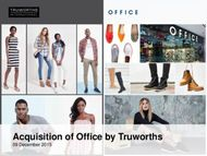 Acquisition of Office by Truworths