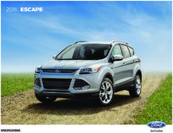 Ford Escape 2016 Specifications