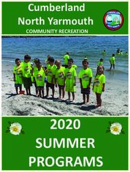 SUMMER 2020 - Cumberland North Yarmouth COMMUNITY RECREATION - Cumberland ME