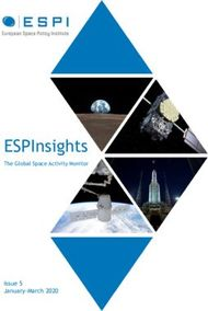 ESPInsights The Global Space Activity Monitor - Issue 5 January-March 2020 - ...