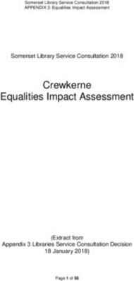 Crewkerne Equalities Impact Assessment