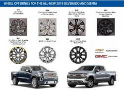Wheel offerings for the all-new 2019 silverado and sierra - VIP ADI