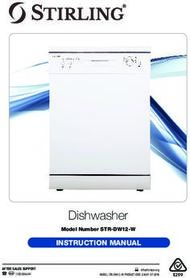Dishwasher - INSTRUCTION MANUAL - Model Number STR-DW12-W