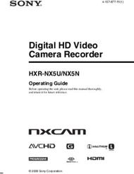 Sony Digital HD Video Camera Recorder HXR-NX5U/NX5N. Operating Guide.