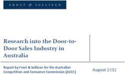 Research into the Door-to- Door Sales Industry in Australia