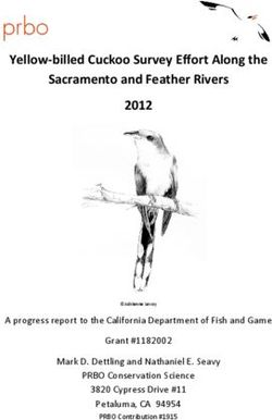 Yellow billed Cuckoo Survey Effort Along the Sacramento and Feather Rivers 2012