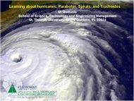 Learning about hurricanes: Parabolas, Spirals, and Trochoides