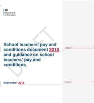 School teachers' pay and conditions document 2018 and guidance on school teachers' pay and conditions