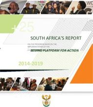 South africa's report - Department of Women