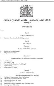 Judiciary and Courts (Scotland) Act 2008