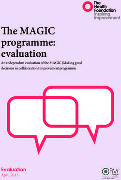 The MAGIC programme: evaluation Evaluation