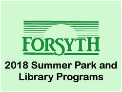 2018 Summer Park and Library Programs