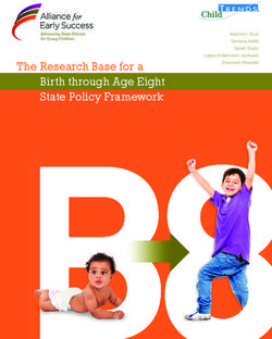 The Research Base for a Birth through Age Eight State Policy Framework