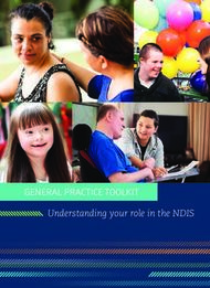 GENERAL PRACTICE TOOLKIT - Understanding your role in the NDIS