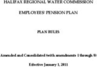 HALIFAX REGIONAL WATER COMMISSION EMPLOYEESʹ PENSION PLAN